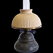 Antique Dual Wick Oil Lamp, R. Hollings & Co Boston, Mass, circa 1879