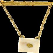 Gold Nugget with Mastodon Fossil Tie Bar circa 1945