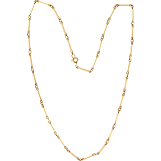 Krementz Bar Link Necklace Chain 18 inches long