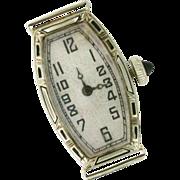 Art Deco Sandoz 18k White Gold 17 Jewel Watch. Swiss. 1920s Rare