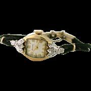 Dainty Vintage 17 Jewel Bulova Watch in 10k yellow rolled gold plate