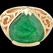 Colombian 8+ Carat Emerald, 18k yellow gold, Custom Made - South Carolina Made - Muzo Mine