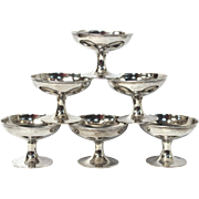 Six Nut / Mint dishes Sterling Silver Hollowware by Yu Chang. 174.7g