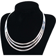 Heavy Sterling Silver Collar 101g Made in Mexico