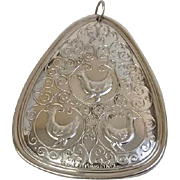 """Towle 1973 Sterling Silver Ornament: """"3 French Hens"""" (SS10206)"""