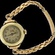 Ladies Watch 1919 Gruen 7 Jewels 14k watch with tiny band for the dainty wrist!