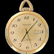 Gruen 17 Jewels Pocket Watch with textured back. Circa 1960s