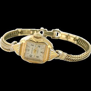 Westclox Ladies Wrist Watch 17 Jewels, Gold Plated