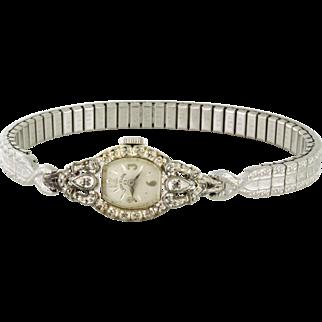 Vintage Lady Elgin Watch with Diamonds 23 Jewels 10k rgp, circa 1953