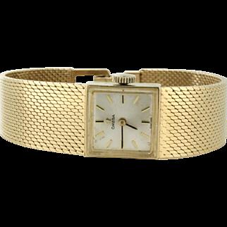 Omega Ladies Watch 14k Solid Gold, fits 6in wrist. Beautiful Gold Bracelet