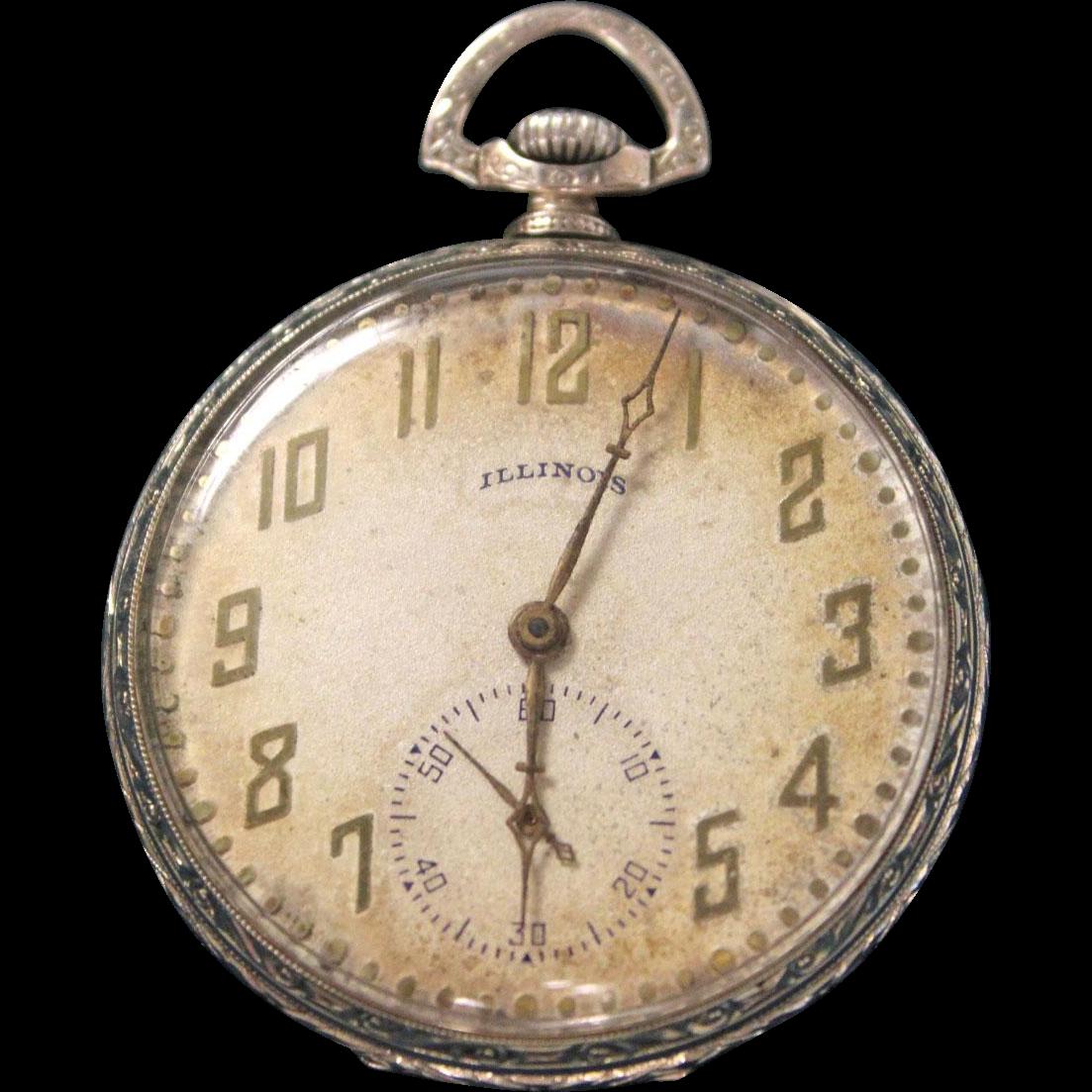 "LABOR DAY SALE Illinois Pocket Watch ""The Autocrat"" 17"