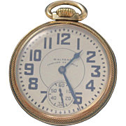 Waltham Vanguard Pocket Watch, 23 Jewels. Keystone 10k gold filled case. Serial #32167691