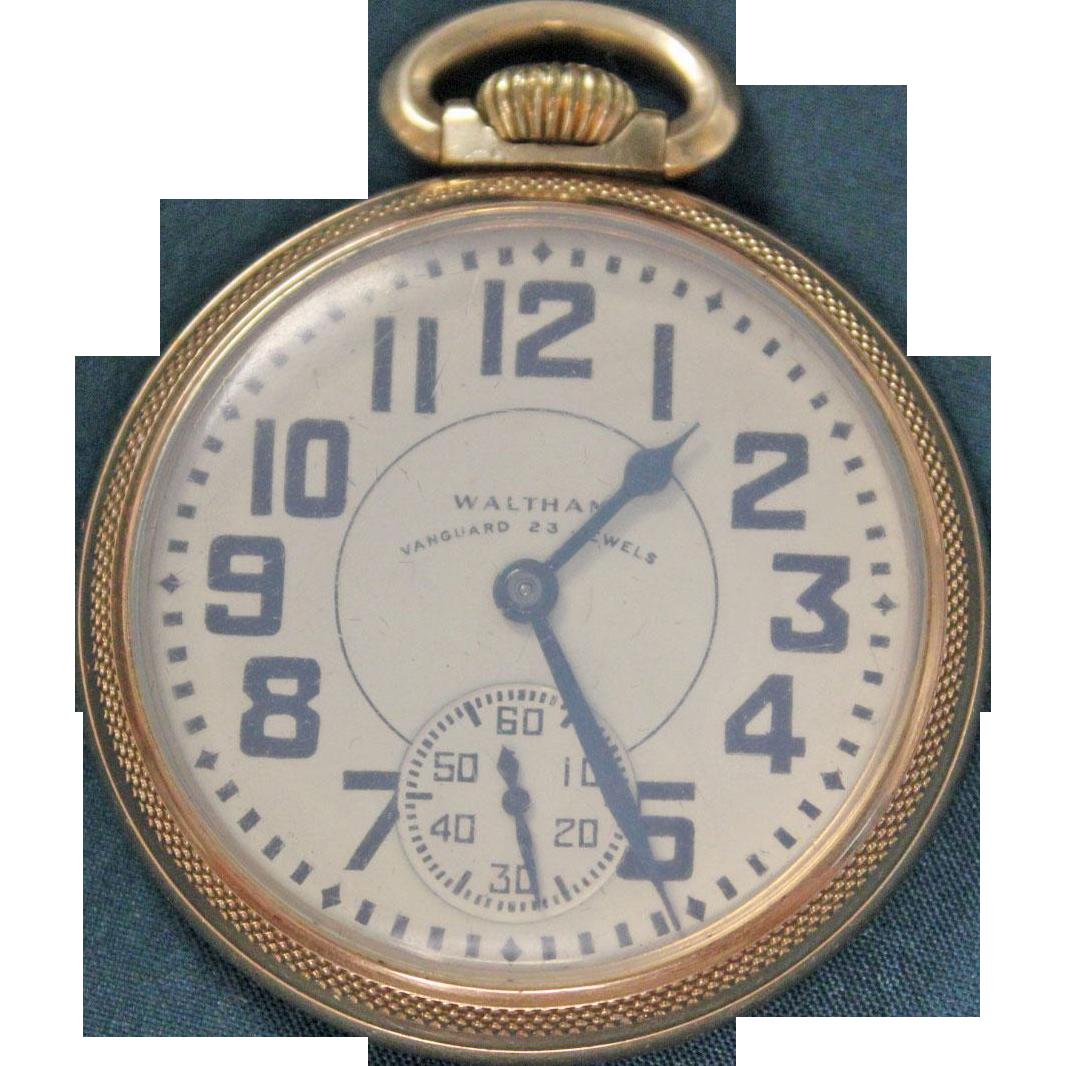 LABOR DAY SALE Waltham Vanguard Pocket Watch 23 Jewels
