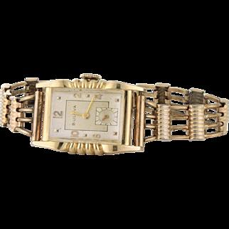Bulova 5th Avenue Art Deco Watch circa 1938, 10k rg