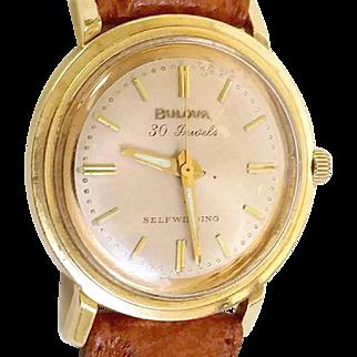 Just Reduced Bulova 30 Jewel Automatic 14k solid gold case Men's Watch, Bulova Box WAT10094