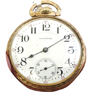 The Famous Vanguard Railroad Pocket Watch Waltham 23 jewels 18s from 1906