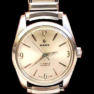 Vintage RADO 17 Jewel Man's Automatic Water Sealed WAT10098