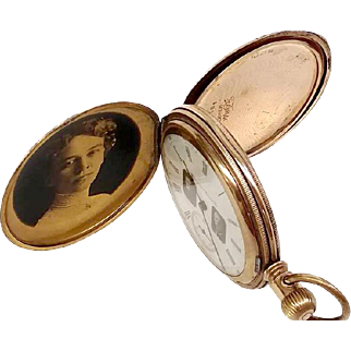 Unique Hampden Hunters Case 1897 16S 14kt Gold WAT10100