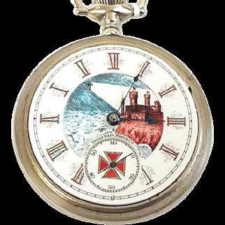 "Extremely Rare Illinois 18s, 17j model ""Templar"" circa 1898 Railroad Grade Running & Accurate WAT10102"