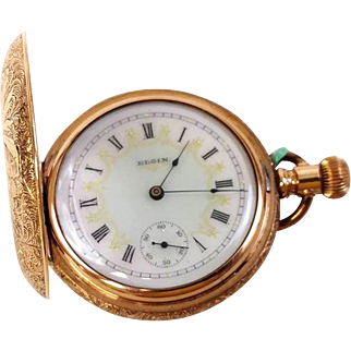 Highly sought after Vintage Elgin Hunter Case 7 jewel Pocket Watch from 1895 WAT10104