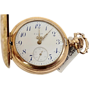Vintage Hunter Case 14K Gold-Filled Elgin OS 7 Jewel, 1908 Pocket Watch: Running/Accurate (WAT10119)