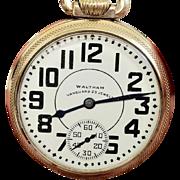 Vintage Waltham Vanguard Railroad, 23 Jewels, 16s Pocket Watch, 1942 (WAT10122)