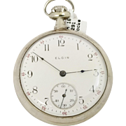 Christmas SALE 40% OFF Working Man's Elgin 1905 16s, 7 Jewel Pocket Watch (WAT10126)