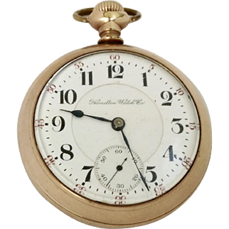 "Vintage Hamilton Model 940 Railroad Grade Pocket Watch, 21 Jewel, 18s Circa 1903 ""Ready for the Next 115 yrs!"" (WAT10133)"
