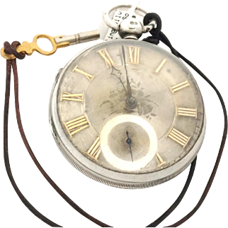 Antique 1853 Sterling English Fusee Watch  Pocket Watch  WAT10134