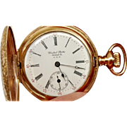 New Arrival SALE 40% OFF Another Great Waltham Hunter's Case 14K Gold Filled Pocket Watch (WAT10137)
