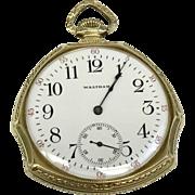 Intro Sale: 20% Off: Antique Unique Fashion Waltham 12S Circa 1908 17 Jewel Pocket Watch (WAT10151)