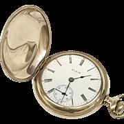 Intro Sale: 20% Off: Vintage Elgin Hunter Case 15 Jewels 18S 1910 Pocket Watch (WAT10152)