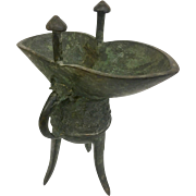 Ancient Chinese Zue Wine Vessel Bronze: A Ritual Vessel From 250BC (OTH10295)