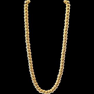 Vintage 1970s Elegant Napier Gold Tone Metal Balls Necklace