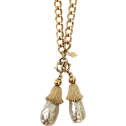 Gorgeous Opera Length Sarah Coventry Baroque Necklace Faux Pearls