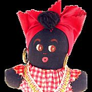 Vintage Black Americana Rag Doll New Orleans