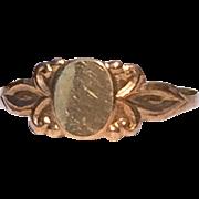 Sweet Engravable Vintage 10KT Gold Baby Ring