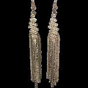 Fabulous Vintage Sparkly Dangling Rhinestone Pierced Earrings