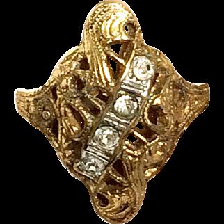Vintage 14kt Gold Filled Victorian Style Ring