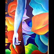 Under Glass, Original Acrylic – Karen Chandler