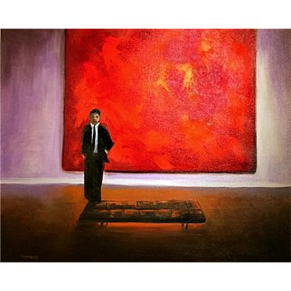 Red Painting, Original Acrylic – Karen Chandler