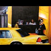 Coffee Shop, Original Acrylic – Karen Chandler