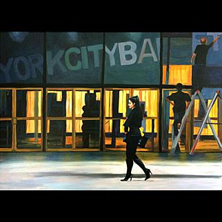 Woman In Black, Original Oil Painting– Karen Chandler