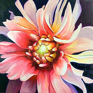 Wild Pink Petals, Original Oil Painting - Karen Chandler