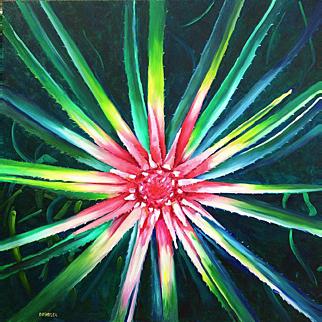 Into The Center, Original Oil Painting – Karen Chandler