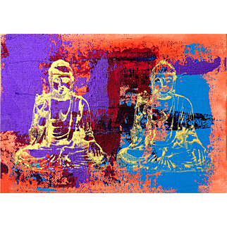 Buddha Love, Original Acrylic Painting – Karen Chandler