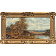 Beautiful Antique Original Oil Painting from The American School, Late 19th-Early 20th Century, Gilt Framed