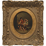 Lovely 19th Century or Earlier, After Bartolome Esteban Murillo, Original Oil Painting in Stunning Gilt Wood Frame, One of a Pair Available #2