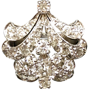 Stunning Art Deco Diamond Ring1920s-1940s Platinum 950/1000 Pure 1.5 cttw G-H VS Diamond Impressive Cluster Ring