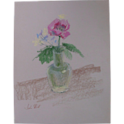 Beautiful Original Oil Pastel Drawing Painting by Nationally Acclaimed Listed Artist John Elliot